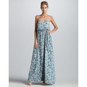 Shoshanna | Silk Floral Strapless Maxi Dress